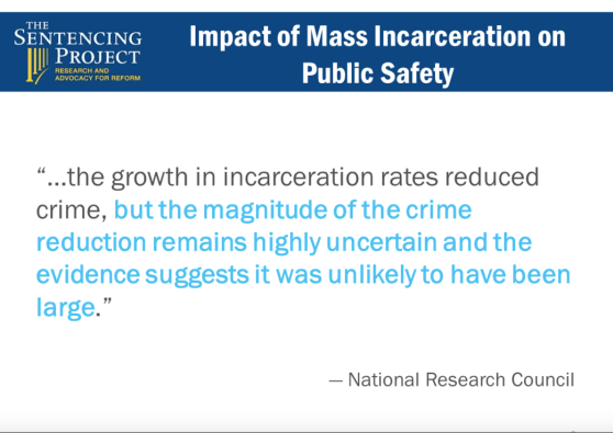 impact of mass incarceration on public safety