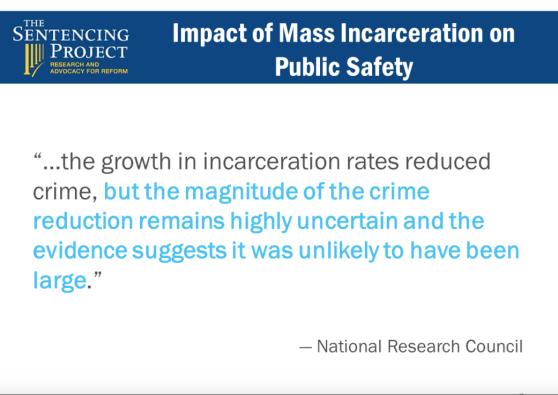 impact of mass incarceration on public safety