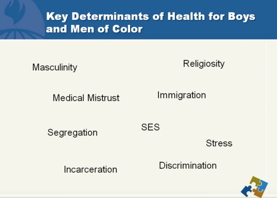 key determinants of health for boys and men of color